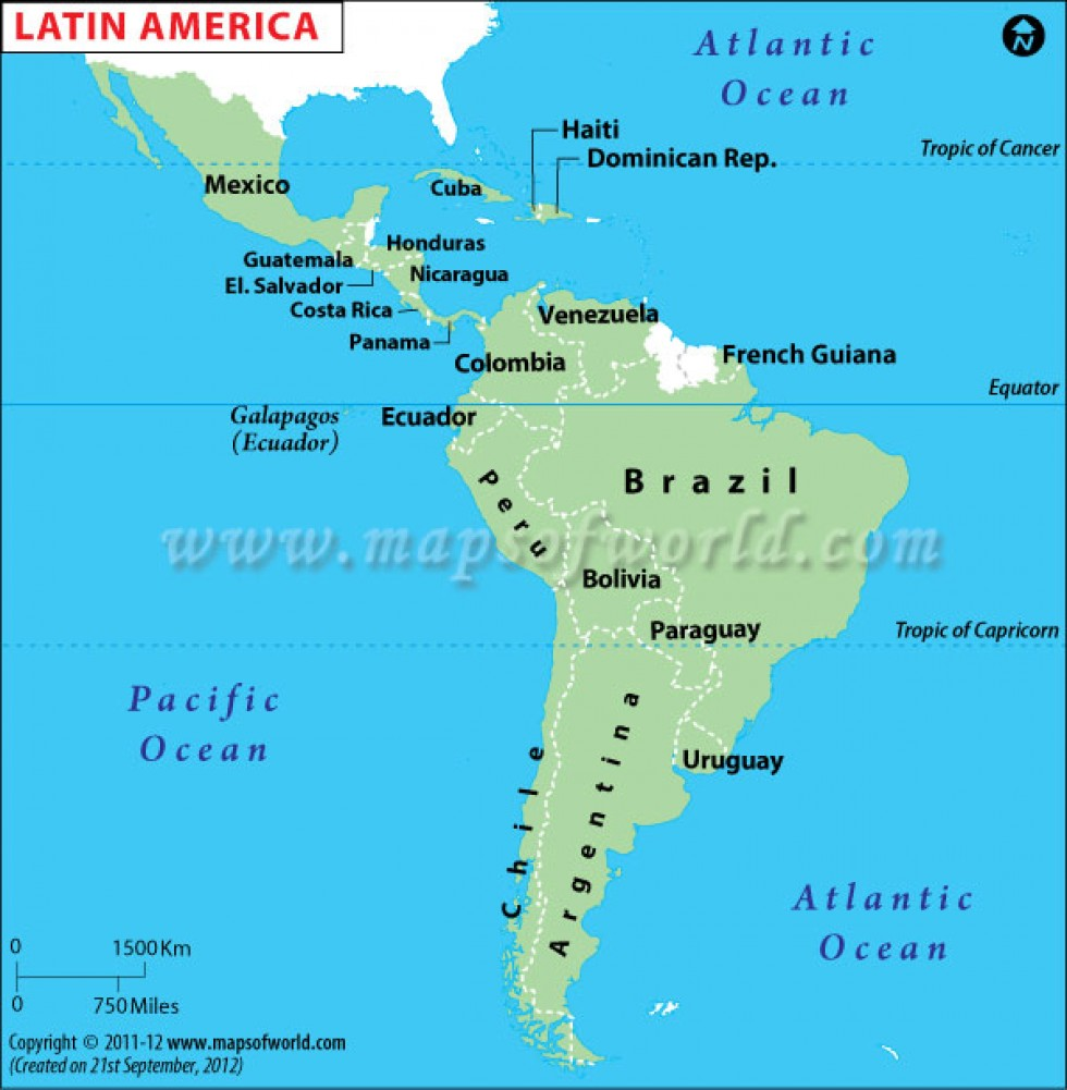 Maps Of The Americas Detailed Political Map Of South America With - Map of the latin america